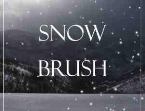 模拟下雪效果Photoshop雪花笔刷