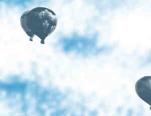 天空中的热气球素材Photoshop笔刷