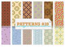 8种无缝拼接的民族花纹图案Photoshop填充图案底纹素材 Patterns 下载
