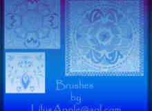 古雅典范的民族花纹、地毯印花Photoshop笔刷素材