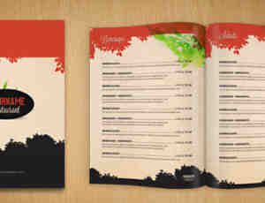 餐馆菜谱、产品目录PSD模版素材下载
