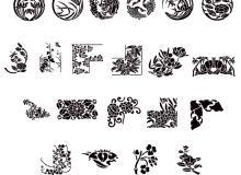 日本传统印花图案Photoshop装饰笔刷