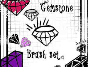 手绘涂鸦钻石Photoshop美图笔刷