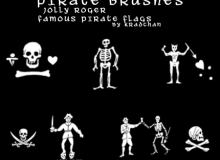 海盗元素图案Photoshop笔刷素材