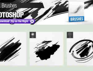 3种墨水划痕Photoshop水墨痕迹笔刷