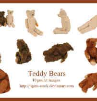 泰迪熊、熊布偶PNG透明图片素材【美图秀秀素材包】