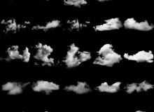 25种真实白云、云彩、天空云朵效果Photoshop笔刷素材下载