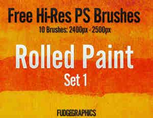 油漆滚过纹理效果Photoshop笔刷 #.1