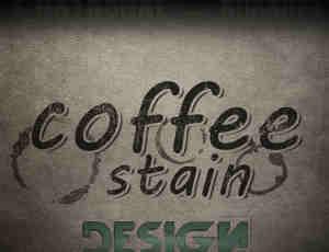 12种咖啡污迹、污渍、水渍PS笔刷素材下载