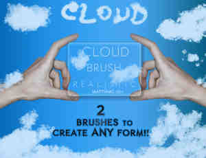 自由组合式云朵、云彩Photoshop笔刷