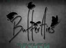 26个漂亮的蝴蝶图案PS笔刷下载