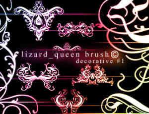 皇家贵族式花纹图案、印花纹饰Photoshop笔刷
