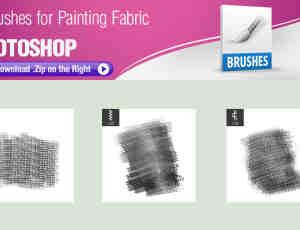3种针织物、编织物、布匹纹理效果Photoshop笔刷素材