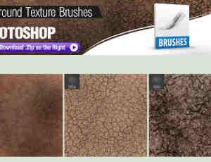3种Photoshop高级地面纹理、泥土材质笔刷