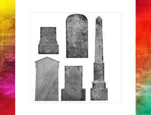 破旧的墓碑、残破的石碑Photoshop笔刷下载