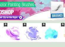 5种水彩效果Photoshop画笔刷子