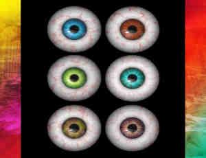 恐怖眼珠子、美瞳眼球Photoshop笔刷素材(图片格式)