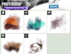 5种干燥油漆纹理涂抹Photoshop笔刷