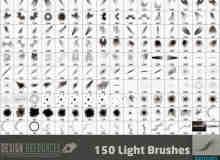 150种光特效、射灯、灯光、光芒照射、阳光等PS笔刷下载