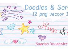 可爱童趣卡通装饰品PS美图笔刷(图片素材)