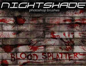 超真实血迹、血手印、血痕纹理PS笔刷下载