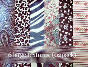 6种佩斯利、斑点、黑白斑马纹、小清新花纹图案Photoshop印染背景布艺笔刷(图片素材)