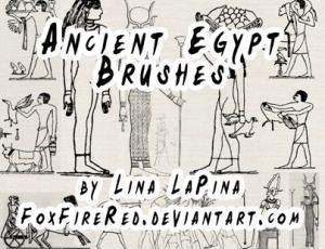 手绘卡通涂鸦埃及法老Photoshop笔刷素材