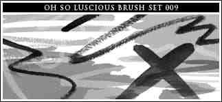 丝带与蜡笔涂鸦笔迹Photoshop笔刷