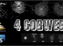 4种蜘蛛网Photoshop笔刷下载