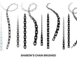 简单的锁链、铁链子Photoshop笔刷素材下载