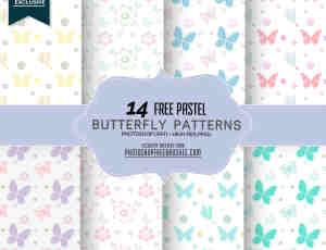 14种漂亮优美的蝴蝶纹饰、蝴蝶印花图案Photoshop填充图案底纹素材.pat