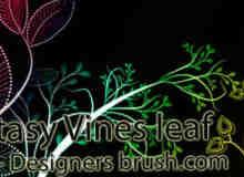 漂亮的植物艺术花纹图案Photoshop笔刷素材