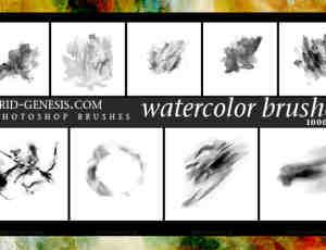 10个高清晰Photoshop水彩画笔笔刷下载