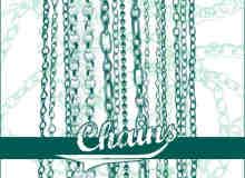 14种不同风格样式的铁链、锁链、链子Photoshop笔刷下载