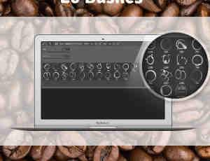 咖啡杯、茶水杯杯底污渍、水迹Photoshop痕迹笔刷