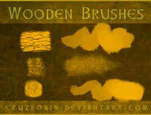 树皮、木头纹理Photoshop笔刷素材下载