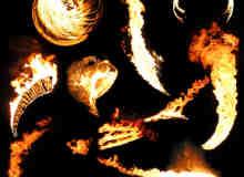 10种火焰、火光、火球效果素材PS笔刷下载(已扣PNG图片)