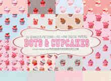 16种纸杯蛋糕梦幻装饰Photoshop背景填充素材下载
