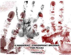 血手印、血手掌PS笔刷素材下载