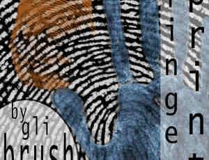 手掌掌纹、手指指纹PS笔刷下载