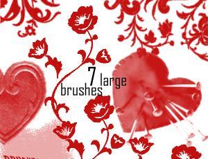 漂亮的艺术植物花纹图案Photoshop美图笔刷