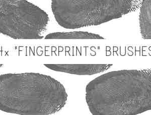 血手指指纹、按手印、指印PS笔刷下载