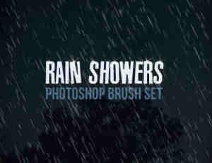简单的下雨背景、雨水效果Photoshop笔刷