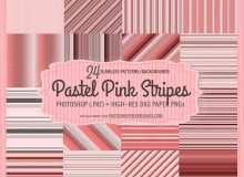 24种粉色彩条竖线Photoshop填充素材下载
