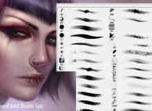 人物CG绘画创作Photoshop笔刷素材