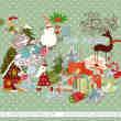 24个圣诞节可爱卡通贴纸美图秀秀PNG图片素材