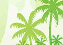椰子树剪影Photoshop树木笔刷