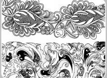 20种漂亮的经典手绘植物印花PS笔刷下载(PNG图片素材)