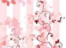 刻板式印花、樱花图案PS笔刷下载