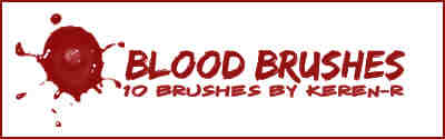 滴溅的血液PS笔刷下载